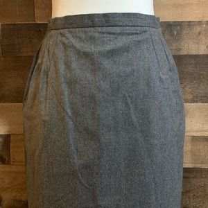 Vintage Cricketeer Gray Wool Pencil Skirt